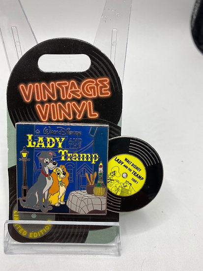 Lady & the Tramp Vintage Vinyl LE 3000 DLR Pin of the Month