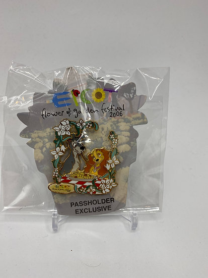 Lady and the Tramp Flower and Garden Festival 2006 LE 2500 Pin WDW AP