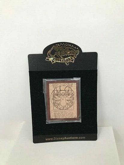 Stitch Vitruvian Man Masterpiece Auctions LE 100 Pin Leonardo Da Vinci