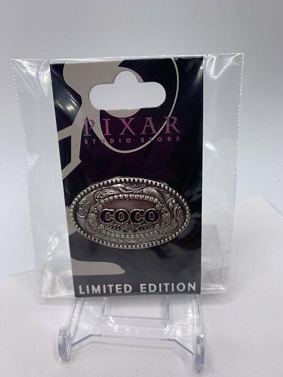 Coco Logo Pixar Studio Store Metal Badge LE 300 Pin Buckle