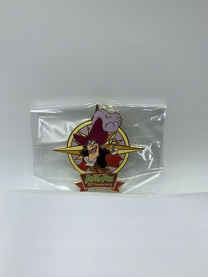 Captain Hook Peter Pan 50th Anniversary Auctions LE 100 Pin