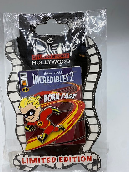 The Incredibles 2 Dash Comic Book Cover LE 300 Pin DSF DSSH Pixar