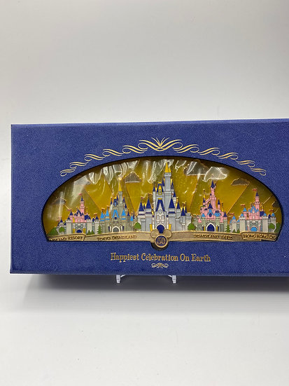 Happiest Celebration on Earth Theme Park Castles LE 1500 Jumbo Pin WDW