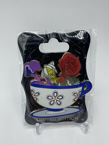 Golden Afternoon Flowers Mad Tea Party LE 250 Pin Alice in Wonderland WDI