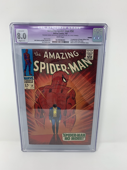 Amazing Spider-Man #13 8.0 Comic Book Graded Restored CGC 1st Appearance Kingpin