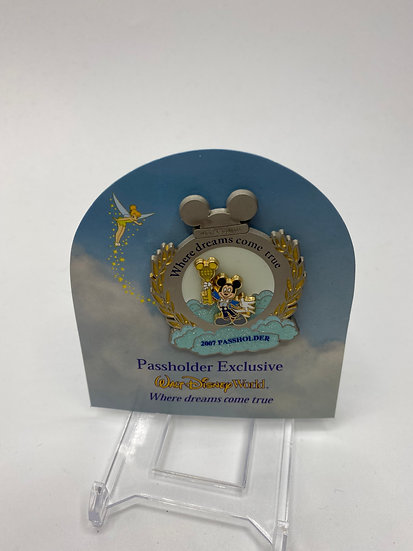 Where Dreams Come True 2007 Mickey Mouse Passholder Exclusive Pin WDW