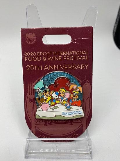 Alice in Wonderland WDW Food & Wine Festival 25th Anniversary LE 3000 Pin