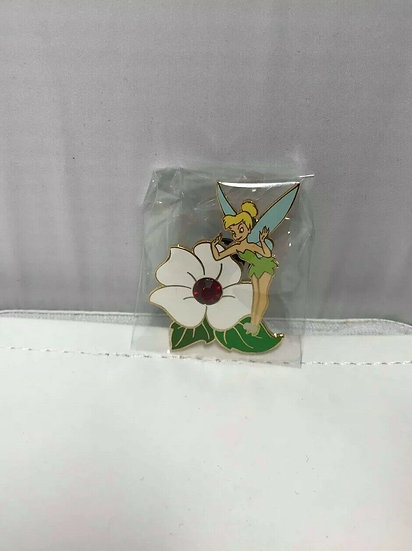 Tinkerbell July Birthstone Ruby Auctions LE 2005 Pin Flower Tinker Bell