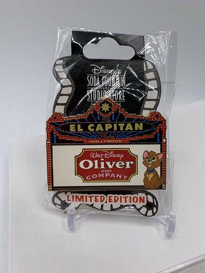 Oliver and Company El Capitan Theatre Marquee LE 150 Pin