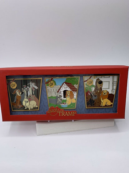 Lady and the Tramp 65th Anniversary LE 1000 3 Pin Box Set Shopping Store