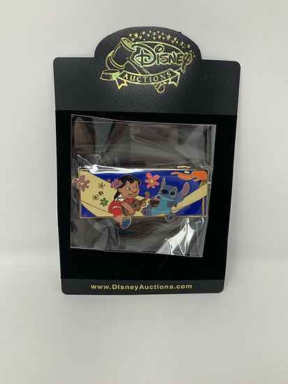 Lilo & Stitch Group Jumbo Auctions LE 100 Pin Guitar