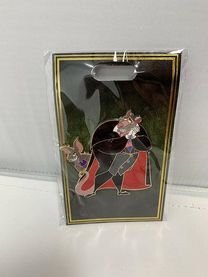 Ratigan & Fidget WDI D23 Villains & Sidekicks LE 300 Pin Great Mouse