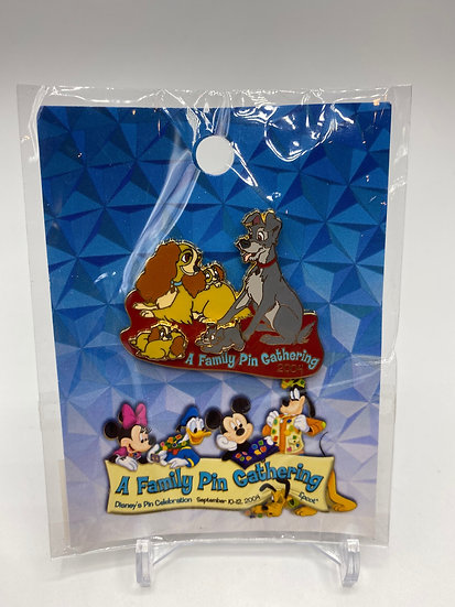 Lady & the Tramp WDW A Family Gathering LE 750 Pin Pups