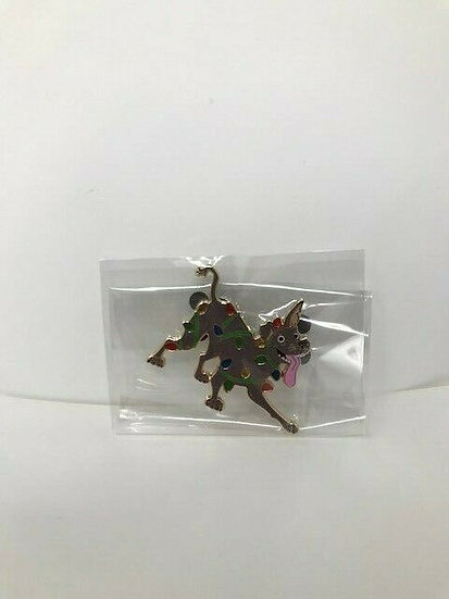 Dante Dog Tangled in Lights Christmas LE 300 AP Pin DSF DSSH Coco