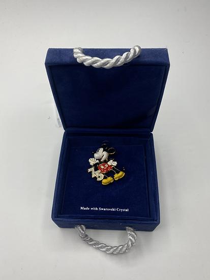 Mickey Mouse 75th Anniversary Swarovski Crystal LE Brooch Pin DLR WDW