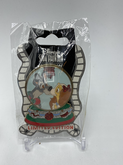 Lady and the Tramp Snow Globe LE 300 Pin DSF DSSH Christmas Holiday