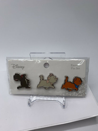 Aristocats Loungefly Siblings 3 Pack Pin Set Marie Berlioz Toulouse