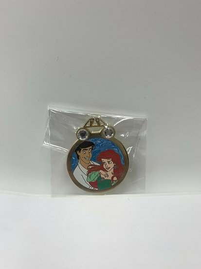 Ariel & Eric Couples Wedding Ring Reveal Conceal RVC Pin Mermaid DLR WDW