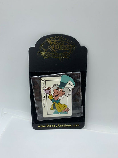 Mad Hatter Card Auctions LE 500 Pin Alice in Wonderland