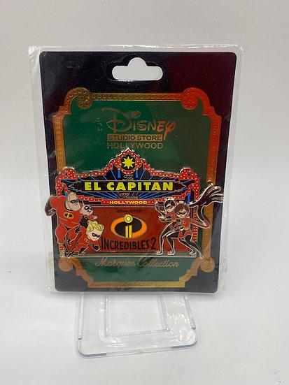 The Incredibles 2 El Capitan Theatre Marquee Pin LE 400 Pin DSF DSSH
