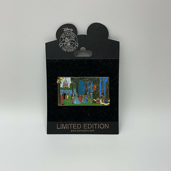 Sleeping Beauty Forest Scene Proof LE 500 Pin 1959 Aurora Shopping Store