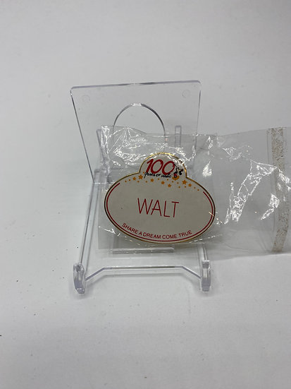 Walt Name Tag 100 Years of Magic Share a Dream Come True Disney WDW