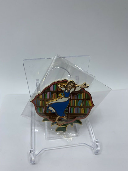 Belle with Bookcase OE Open Edition Pin Beauty & the Beast Ladder