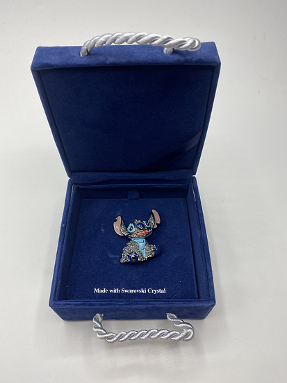 Stitch Swarovski Crystal LE 1500 Brooch Pin Lilo and Stitch WDW