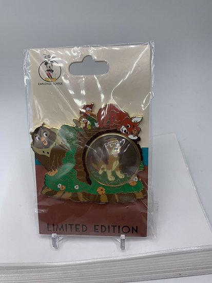 Fox and the Hound DEC Snow Globe Series LE 250 Pin Tod Copper