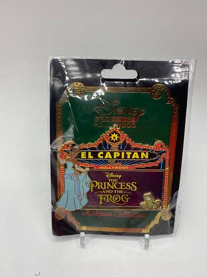 Princess & the Frog El Capitan Theatre LE 300 Marquee Pin DSF DSSH Tiana