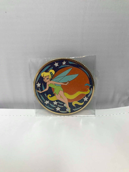Tinker Bell LE 300 Jumbo Coin Series Pin Round Peter Pan Shopping Store