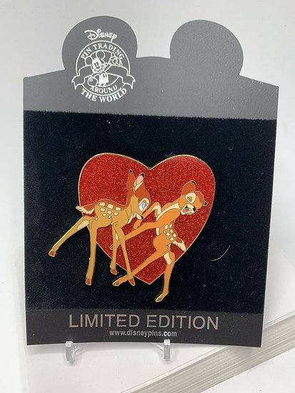 Bambi & Faline Valentine's Day Heart LE 300 Pin Shopping Store