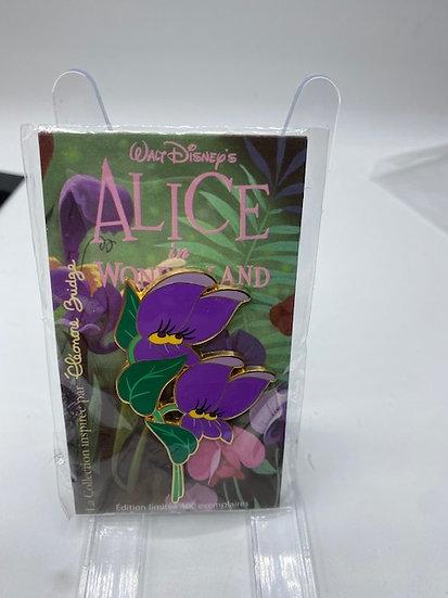 Alice in Wonderland Violets Eleanor Bridge LE 400 Disney Paris DLP Pin Flowers
