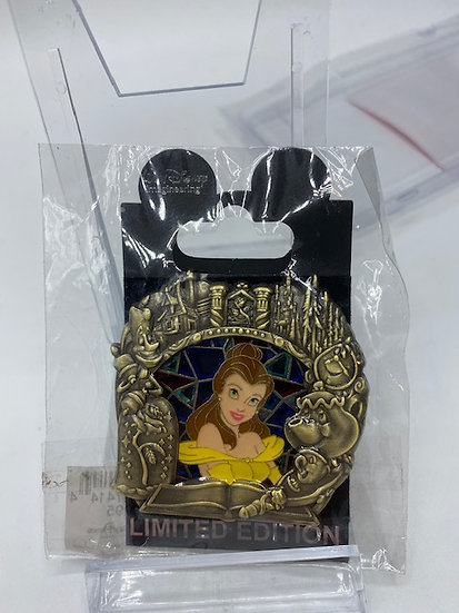 Belle WDI Stained Glass Princess Series LE 300 Pin Beauty and the Beast