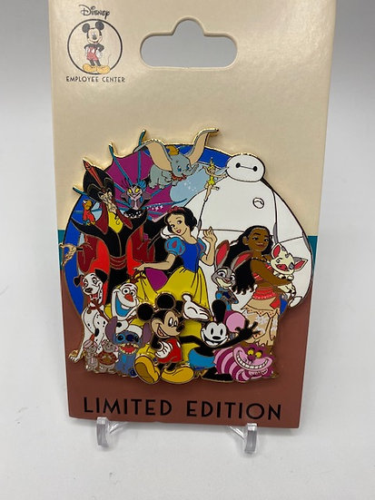 Disney Character Cluster DEC LE 200 Pin Baymax Stitch Moana Cheshire Dumbo Judy