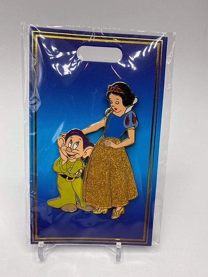 Snow White & Dopey WDI D23 Heroines & Sidekicks LE 300 Pin Seven Dwarfs