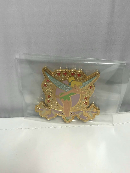 Tinker Bell Frame Birds and Flowers Auctions LE 1000 Pin Peter Pan Fairy