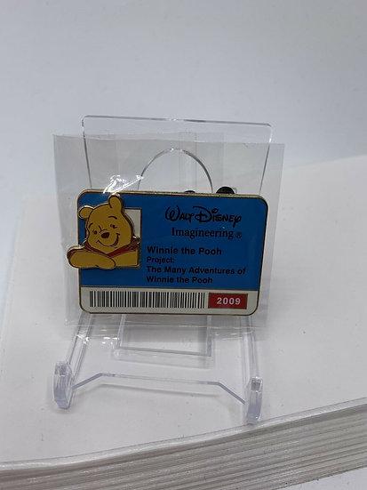 Winnie the Pooh WDI ID Badge Series 2009 LE 300 Pin