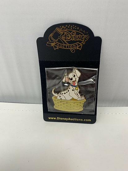 Puppy in Basket LE 500 Pin Auctions 101 Dalmatians Lucky Rolly Patch