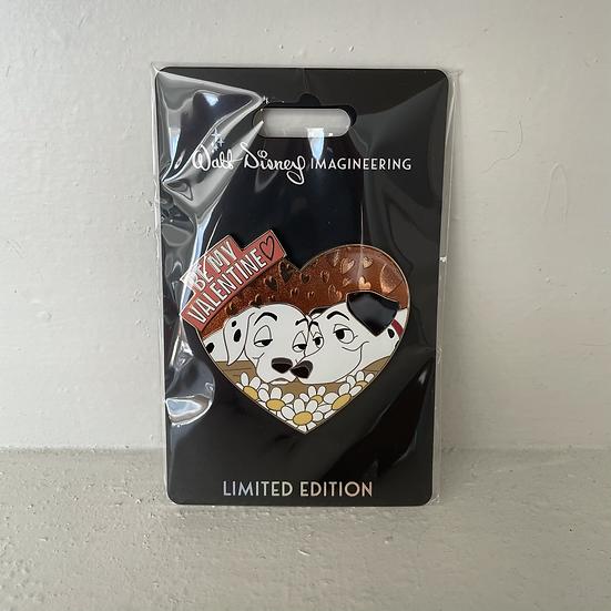 Perdita & Pongo WDI Be My Valentine LE 250 Pin 101 Dalmatians