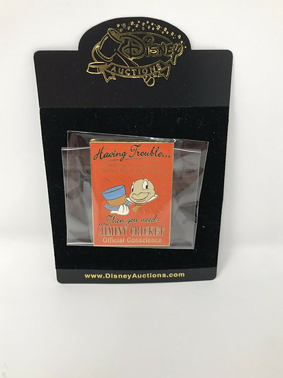 Jiminy Cricket Auctions Business Ad Official Conscience LE 100 Pin