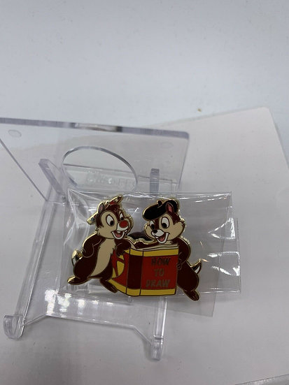 Chip and Dale LE 50 Mystery Art Box Pin World How to Draw Shopping Store