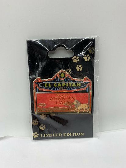 African Cats El Capitan Theatre Marquee LE 150 Pin DSF DSSH