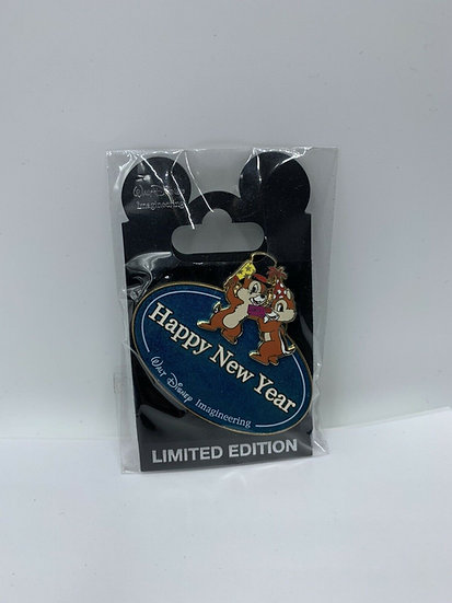 Chip & Dale WDI Name Tag Happy New Year 2009 LE 300 Pin