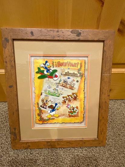 Donald Duck Travel Journal 5 Pin LE 72 Frame Pin Artist Proof AP Disney Store