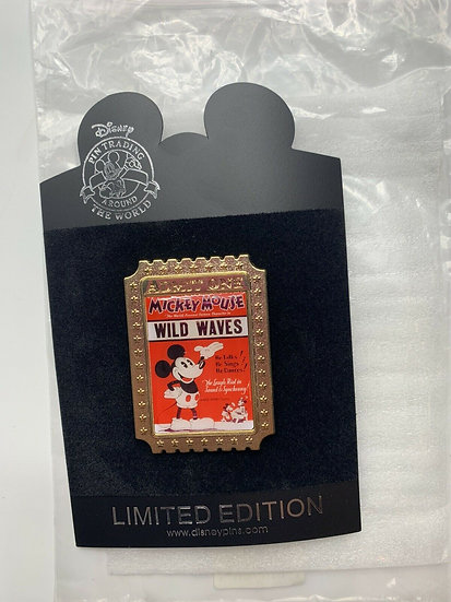 Mickey Mouse Shopping Store Nostalgia Tickets Wild Waves LE 350 Pin