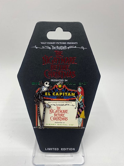 Nightmare Before Christmas 3D Marquee LE 300 Pin DSF DSSH NBC Jack Sally
