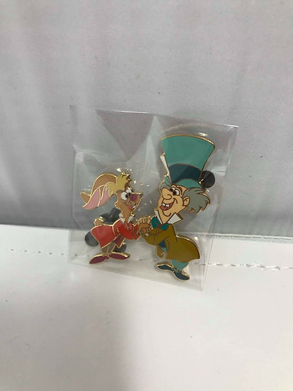 Mad Hatter and March Hare Alice in Wonderland LE 1000 Framed Pin