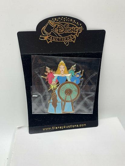 Sleeping Beauty Spinning Wheel Fairies LE 100 Jumbo Pin Aurora Auctions