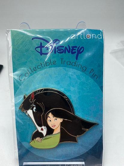 Mulan and Khan Princess Horse LE 300 Artland UK Pin
